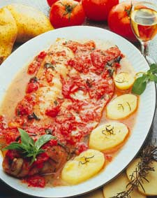 Baked Conger Eel (Congrio) with Tomato